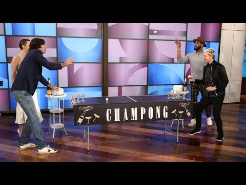 Ellen and Kate Hudson Play 'Champong'