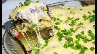 Картофельная запеканка с мясом и соусом Бешамель | Инстаграм рецепты