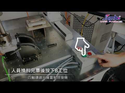 四軸連續光纖雷射焊接機 -雙工位