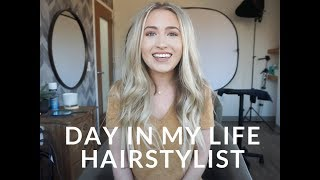 A DAY IN THE LIFE OF A HAIR STYLIST // HABIT HAND TIED EXTENSIONS // COLOR CLIENTS & MORE