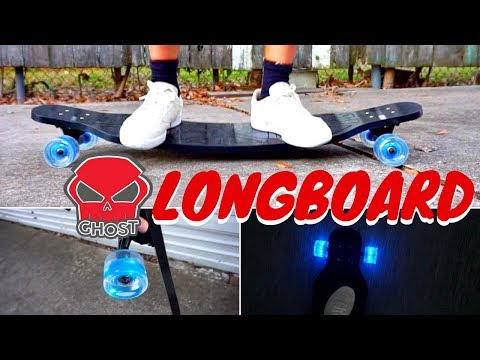 easy to ride longboard, ghost long board review!!