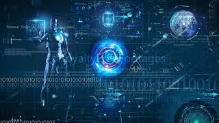 Hi tech technology background | futuristic background video | artificial intelligence background HD