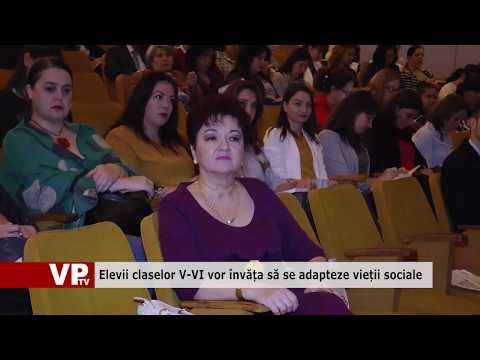 Elevii claselor V-VI vor învăța să se adapteze vieții sociale