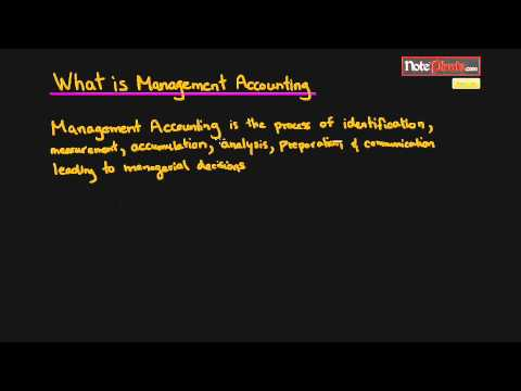 What is Management Accounting (Cost Accounting Tutorial #1 ...