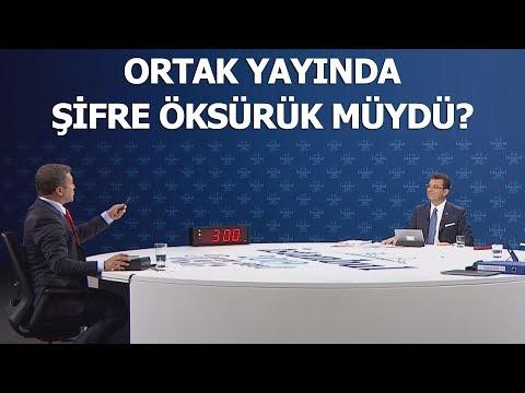 Ortak yayında Ekrem İmamoğlu'ndan İsmail Küçükkaya'ya öksürük sinyali