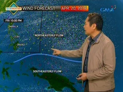 24 Oras: Weather update as of 6:45 p.m. (April 19, 2018)