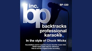 Man Of The House (Instrumental Track Without Background Vocal) (Karaoke in the style of Chuck...