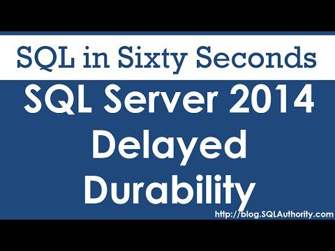 SQL SERVER - Delayed Durability Database Level and Transaction Level 0