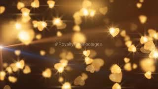 birthday - wedding background hd video effects | birthday - wedding golden background | #freevideos