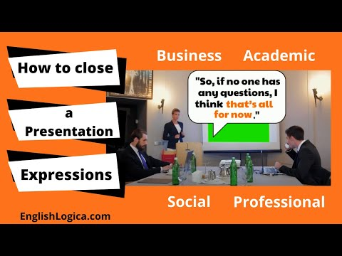 Closing a Presentation - Vocabulary