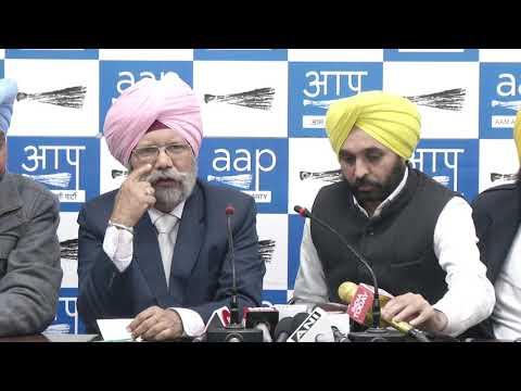 AAP Punjab Convenor & Punjab Assembly LOP Addressed Media