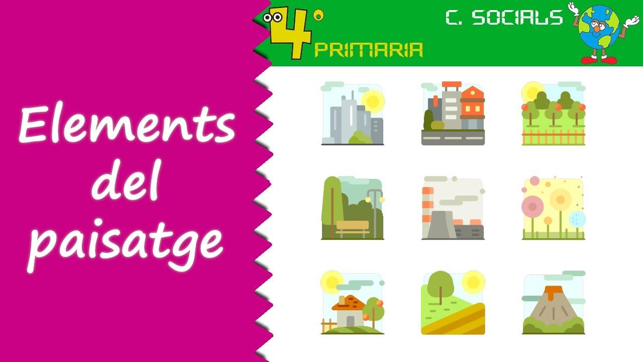 Ciències Socials. 4t Primària. Tema 4. Els elements del paisatge