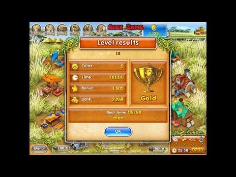 Farm Frenzy 3 Madagascar (level 18) only GOLD Веселая ферма 3 Мадагаскар (Уровень 18) Золото