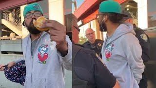 Man Arrested for Eating Breakfast at Train Station