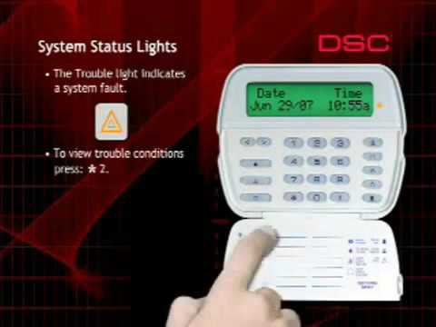 DSC Security System Keypad Status Lights