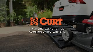 CURT (18112): Trailer Hitch Cargo Carrier with Double-Folding Ramp