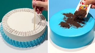 Quick & Simple Cake Decorating Tutorial Like a Pro   Most Satisfying Chocolate Video   So Yummy