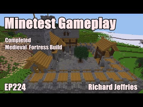 Minetest Gameplay EP224 Completed Medieval Fortress Build