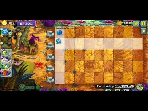 Electric BlueBerry 27 level Jurassic Marsh- Plants vs Zombies 2(PvZ 2) Растения против зомби 2