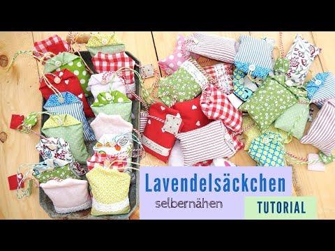 Lavendelkissen zum selbernähen - Tutorial für Anfänger