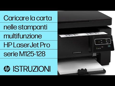 Caricamento della carta nelle stampanti multifunzione HP LaserJet Pro serie M125-128