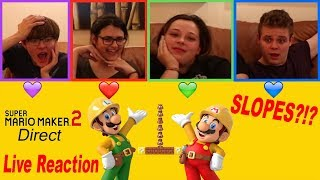 LIVE REACTION - Super Mario Maker 2 Direct (w/ Mickel, Dee, Sarah, And Justin)