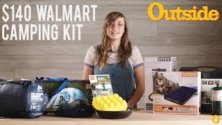 We Went Camping With A $140 Kit From Walmart | Outside