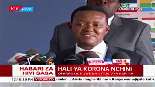 Alfred Mutua confirms Machakos county will be doing coronavirus tests after national gov\'t approval