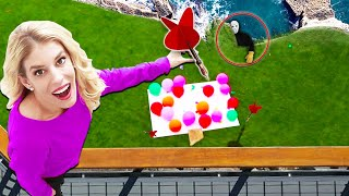 Last to Drop Wins Dart from 45ft! (Game Master Mystery ingredient Balloon Slime)