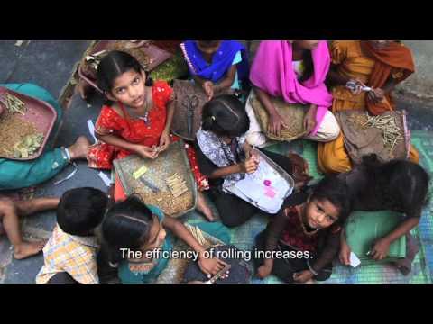 Ausbeutung von Mädchen in der indischen Tabakindustrie