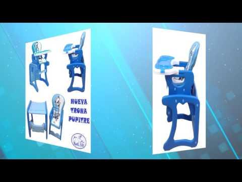 Trona pupitre convertible en mesa y silla, para bebes y niños Mundi Bebé Panda