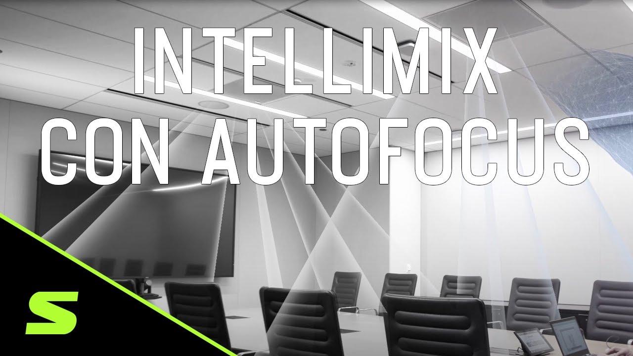 Micrófono de techo MXA910 IntelliMix y Autofocus