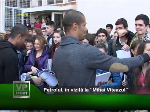 """Petrolul, în vizită la """"Mihai Viteazul"""""""