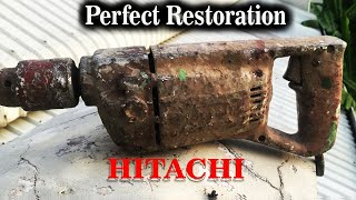 Restoration/ Restore Very Dirty Electric Paint Mixer to Be Drill/ Hitachi Drill Rescue /Japan