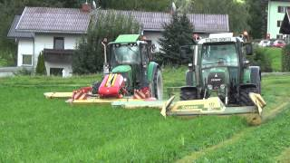 preview picture of video 'Mähen 2014 (Fendt, John Deere, Krone, Pöttinger) // Agroteam Tirol'