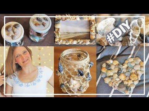 DIY mit MUSCHELN | Glas mit Fischernetz, Vorratsdosen, Mobile, T-Shirt bedrucken, uvm.