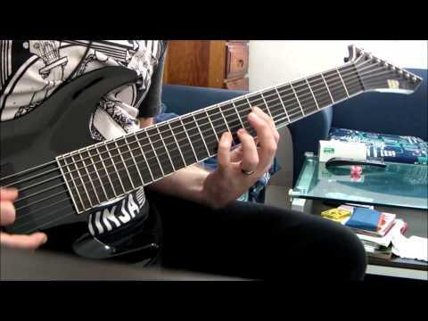 Deftones - Graphic Nature. ESP Stef B8, 8 String Guitar Cover