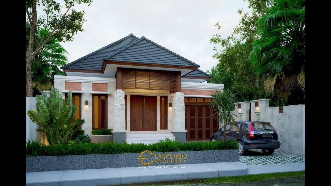Video 3D Desain Rumah Villa Bali Tropis 1 Lantai Bapak Ammal Rozib