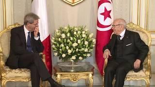 Gentiloni incontra il Presidente della Repubblica di Tunisia