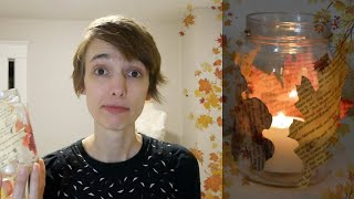 Fall Leaf Candle Holder - Upcycle Craft Tutorial