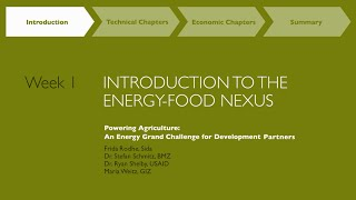 Introduction to the Energy-Agriculture Nexus by PAEGC