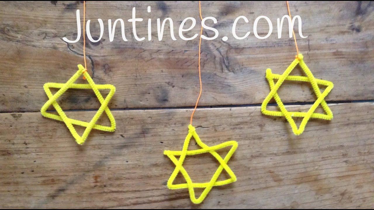 Manualidades navideñas: Estrellas de limpiapipas