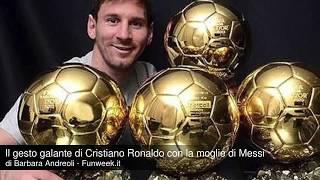 Il gesto di Cristiano Ronaldo con la moglie di Messi diventa virale!