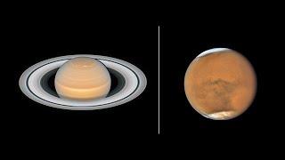 فيديو – تلسكوب هابل يستغل أيامه الأخيرة ويلتقط صور للمريخ وزحل