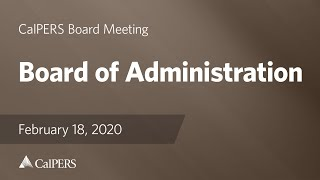 Board of Administration on February 18, 2020