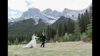 Canmore Wedding Photographer: Quarry Lake and A Bear & Bison Inn - Video Clip
