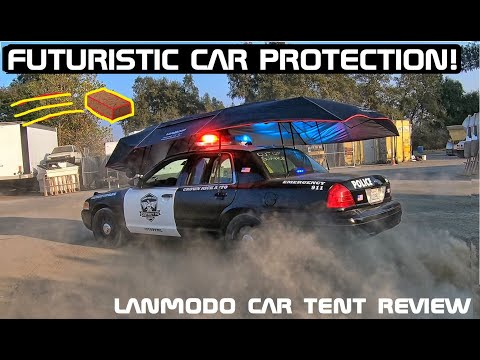 This Futuristic Vehicle Protection Device Stops Falling Bricks! Lanmodo Car Tent Review! Crown Rick