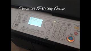 Konica Minolta Bizhub Pc Print Setup