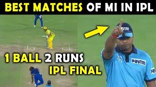 IPL 2021 : Best Matches of Mumbai Indians in IPL | Top 5 Moments of MI | IPL Finals | MI Finals