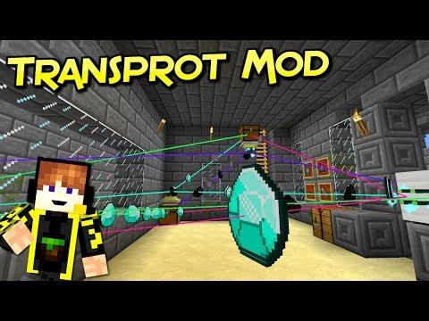 Transprot Mod  | Mueves Tus Recursos De Forma Sencilla | Minecraft 1.12.2 – 1.10.2 | Review Español
